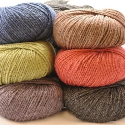 Nettle /& Organic Aran Hand Knit Wool ~ Bessie May NETTLE in Grey of /'Ash/'